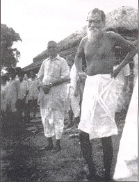 Iswar Chandra Pramanik with Vinoba Bhabe