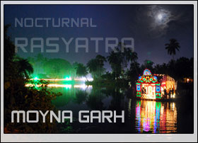 "The Ras Mela of Moynagarh"" 449 th Ras Festival of Moynagarh (2009) Nocturnal Rasyatra (Ras Festival) on illuminated boats …"